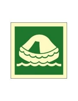 Hinweiskleber Rettungsinsel